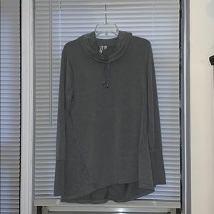 cable & gauge grey thin long sleeve turtle neck